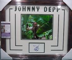 Johnny Depp Pirates Of The Caribbean Jsa Coa Signed Auto Double Matted & Framed