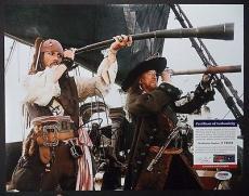 Johnny Depp Pirates Of The Caribbean Psa Coa Signed Autograph 11x14 Photo Rare C