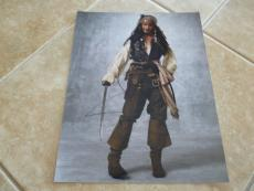 Johnny Depp Pirates Of The Caribbean Sexy Signed Autographed 11x14 Photo READ