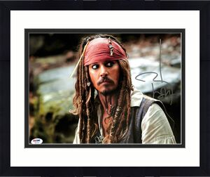 Johnny Depp Pirates Of The Caribbean Signed 11x14 Graded 10! Photo PSA #W04453