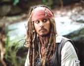 Johnny Depp Pirates Of The Caribbean Signed 11X14 Photo BAS #B73202