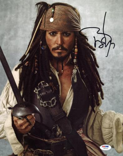 Johnny Depp Pirates Of The Caribbean Signed 11x14 Photo Graded 10! PSA #W04422