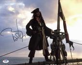 Johnny Depp Pirates Of The Caribbean Signed 11x14 Photo Graded 10! PSA #W04449
