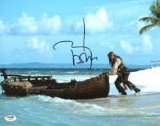 Johnny Depp Pirates Of The Caribbean Signed 11X14 Photo Graded 10 PSA/DNA W04447