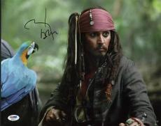 Johnny Depp Pirates Of The Caribbean Signed 11x14 Photo Psa #x35927