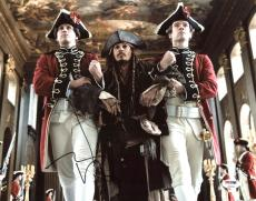 Johnny Depp Pirates Of The Caribbean Signed 11X14 Photo PSA #Z90203