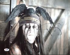 Johnny Depp Pirates Of The Caribbean Signed 11X14 Photo PSA #Z90305