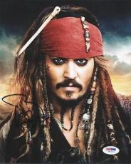 Johnny Depp Pirates Of The Caribbean Signed 8x10 Photo Psa/dna #u62112