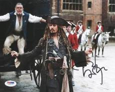 Johnny Depp Pirates Of The Caribbean Signed 8X10 Photo PSA/DNA #U62113