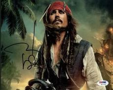 Johnny Depp Pirates Of The Caribbean Signed 8x10 Photo Psa/dna #w11226