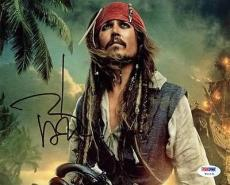 Johnny Depp Pirates Of The Caribbean Signed 8x10 Photo Psa/dna #w11231