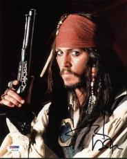 Johnny Depp Pirates Of The Caribbean Signed 8x10 Photo Psa/dna #w11238