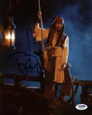 Johnny Depp Pirates Of The Caribbean Signed 8x10 Photo Psa/dna #w24902