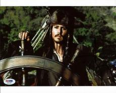 Johnny Depp Pirates Of The Caribbean Signed 8x10 Photo Psa/dna #x44487
