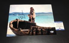 JOHNNY DEPP PIRATES OF THE CARIBBEAN SIGNED AUTOGRAPHED  11x14 PHOTO BECKETT BAS