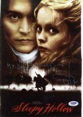 Johnny Depp Psa/dna Hand Signed Sleepy Hollow 9x12 Photo Authentic Autograph