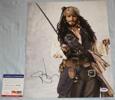 Johnny Depp signed 11 x 14,Pirates of the Caribbean, Edward Scissorhands,PSA/DNA