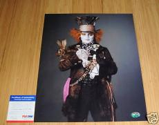 Johnny Depp Signed 11x14 Alice Proof PSA/DNA