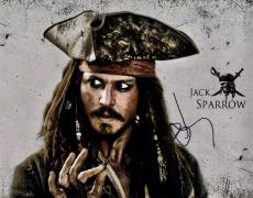Johnny Depp Signed 11x14 Jack Sparrow Poster Photo Video Proof UACC RD AFTA