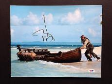 Johnny Depp Signed 11x14 Photo Autograph Psa Dna Coa Pirates Of The Caribbean