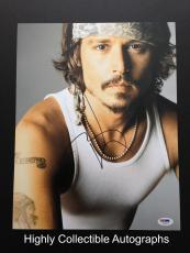 Johnny Depp Signed 11x14 Photo Autograph Psa Dna Coa Pirates Of The Carribean