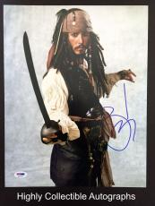 Johnny Depp Signed 11x14 Photo Autograph Psa Dna Coa Pirates Of The Carribean