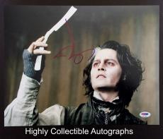 Johnny Depp Signed 11x14 Photo Autograph Psa Dna Coa Sweeney Todd