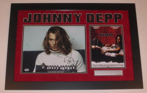 Johnny Depp Signed 11x14 Photo Blow Professionally Framed Autograph Psa/dna Coa