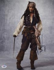 Johnny Depp SIGNED 11x14 Photo Captain Jack Pirates of the Caribbean PSA/DNA