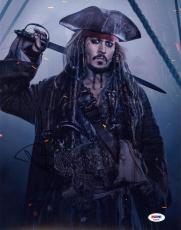 Johnny Depp SIGNED 11x14 Photo Captain Jack Pirates of the Caribbean PSA/DNA