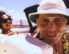 Johnny Depp SIGNED 11x14 Photo Fear and Loathing Las Vegas PSA/DNA AUTOGRAPHED