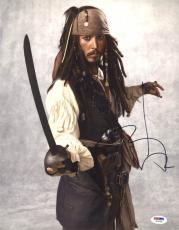 Johnny Depp SIGNED 11x14 Photo Jack Pirates of the Caribbean PSA/DNA AUTOGRAPHED