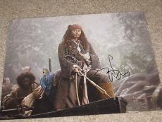 JOHNNY DEPP SIGNED 11x14 PHOTO PIRATES OF THE CARIBBEAN