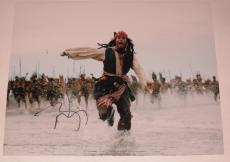 Johnny Depp Signed 11x14 Photo Pirates Of The Caribbean Autograph Coa B