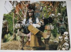Johnny Depp Signed 11x14 Photo Pirates Of The Caribbean Autograph Coa G