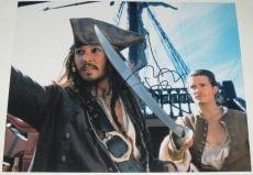 Johnny Depp Signed 11x14 Photo Pirates Of The Caribbean Autograph Coa H