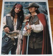 Johnny Depp Signed 11x14 Photo Pirates Of The Caribbean Autograph Coa I