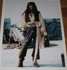 Johnny Depp Signed 11x14 Photo Pirates Of The Caribbean Autograph Coa J