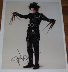 Johnny Depp Signed 11x14 Photo Pirates Of The Caribbean Autograph Coa K