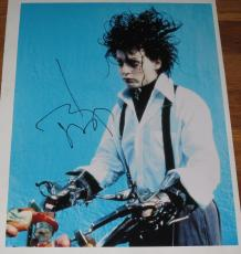 Johnny Depp Signed 11x14 Photo Pirates Of The Caribbean Autograph Coa M