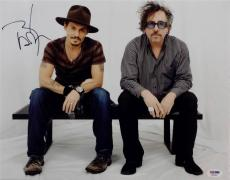 Johnny Depp Signed 11x14 Photo PSA/DNA Pirates Of The Carribean Auto Tim Burton