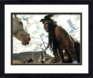 Johnny Depp Signed 11x14 Photo The Lone Ranger Beckett Bas Autograph Auto C