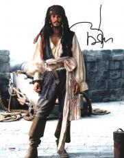 Johnny Depp Signed 11X14 Photo w/ Graded 10 Autograph! PSA/DNA #W04391