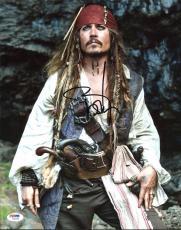 Johnny Depp Signed 11X14 Photo w/ Graded 10 Autograph! PSA/DNA #W04398