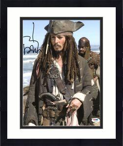 Johnny Depp Signed 11X14 Photo w/ Graded 10 Autograph! PSA/DNA #W04402