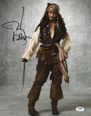 Johnny Depp Signed 11X14 Photo w/ Graded 10 Autograph! PSA/DNA #W04403