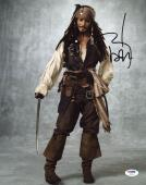 Johnny Depp Signed 11X14 Photo w/ Graded 10 Autograph! PSA/DNA #W04410