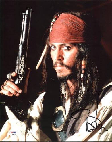 Johnny Depp Signed 11X14 Photo w/ Graded 10 Autograph! PSA/DNA #W04413