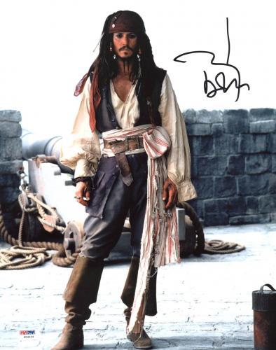 Johnny Depp Signed 11X14 Photo w/ Graded 10 Autograph! PSA/DNA #W04424