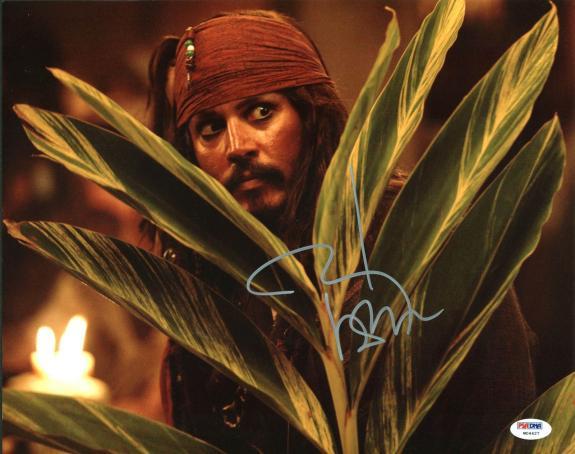 Johnny Depp Signed 11X14 Photo w/ Graded 10 Autograph! PSA/DNA #W04427